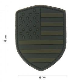 Patch 3D bouclier USA