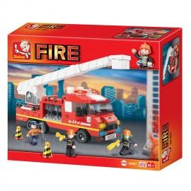 Camion Pompier avec échelle M38-B0221 - SLUBAN
