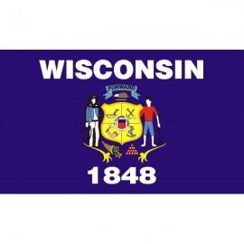 Drapeau USA Wisconsin