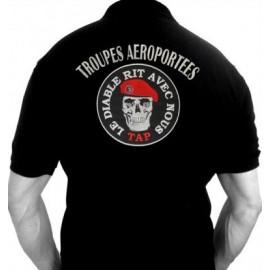 """Polo TAP """"Le Diable rit avec nous"""" (Paratrooper Inc)"""