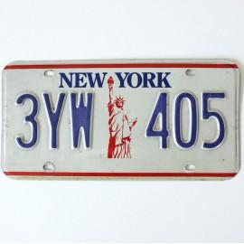 Plaque d'immatriculation USA New York
