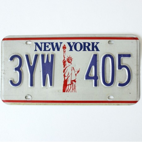 plaque d 39 immatriculation usa new york. Black Bedroom Furniture Sets. Home Design Ideas