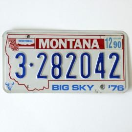 Plaque d'immatriculation USA Montana