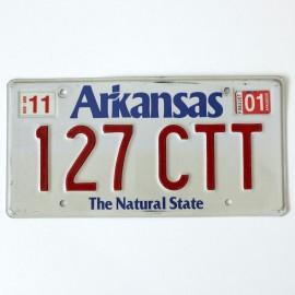 Plaque d'immatriculation USA Arkansas