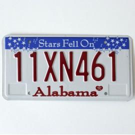 Plaque d'immatriculation USA Alabama