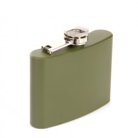 Flasque Army en acier inoxydable