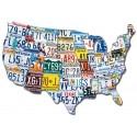 Plaque d'immatriculation USA